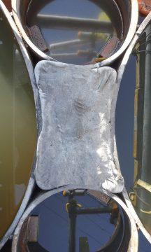 小口径鋼管とモルタルにより閉止された杭間